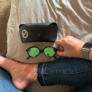 Ray-Ban Highstreet 50 mm Brow Bar Sunglasses
